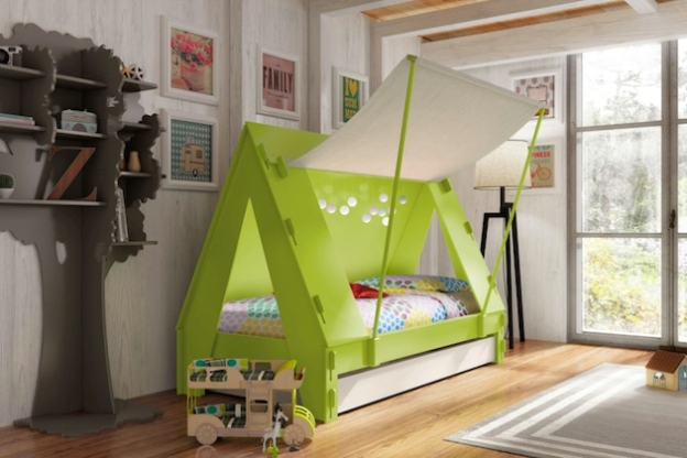 Cute-Crafted-Cabin-Tent-Bed-by-Mathy-by-Bols-1