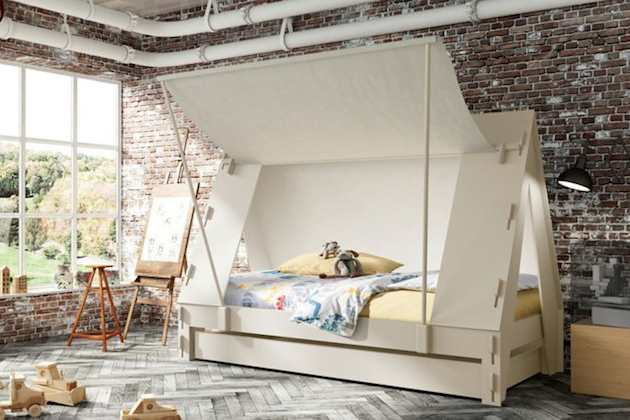 Cute-Crafted-Cabin-Tent-Bed-by-Mathy-by-Bols-2